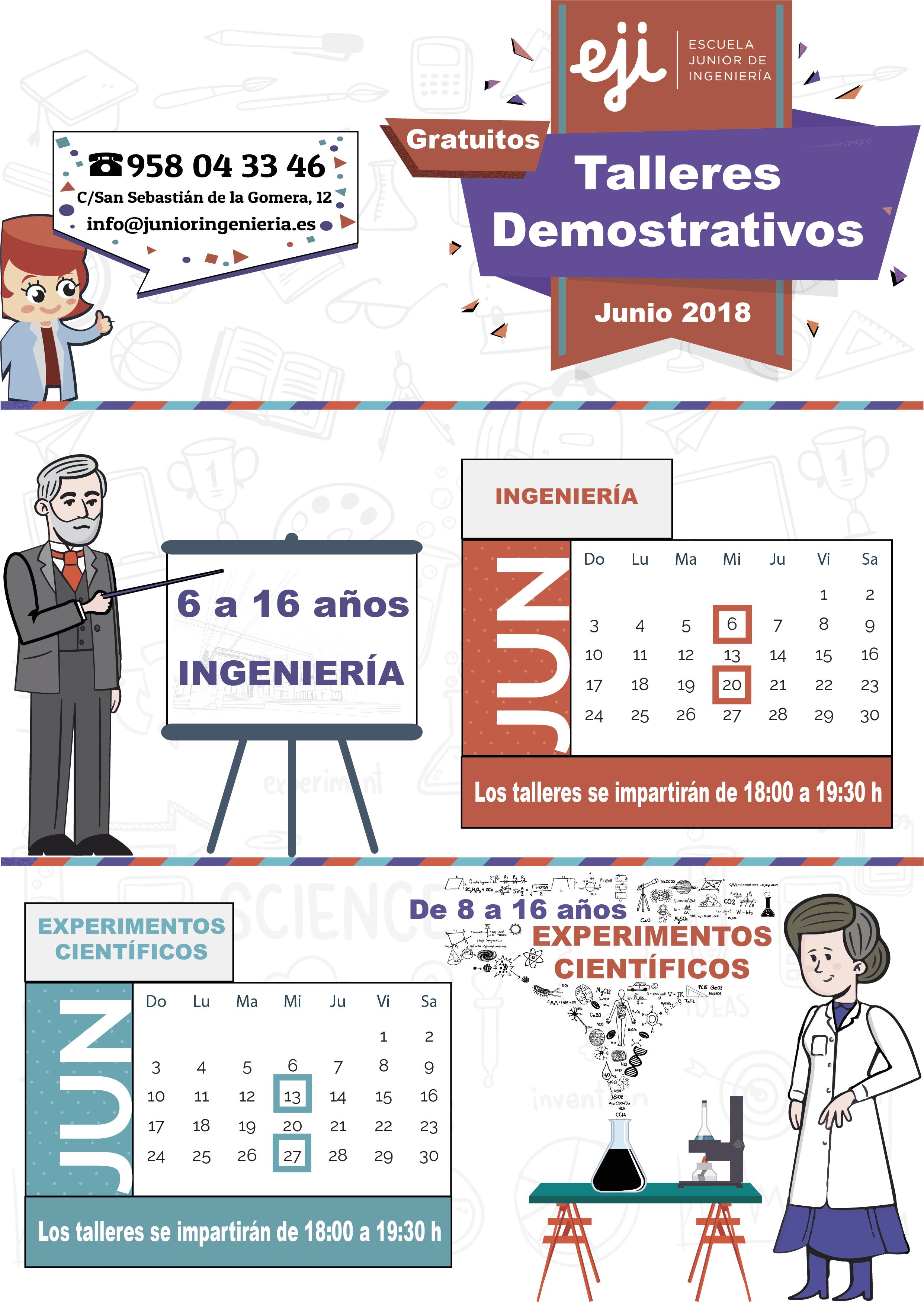 Talleres demostrativos de ingeniería y experimentos científicos para niños y niñas en Granada