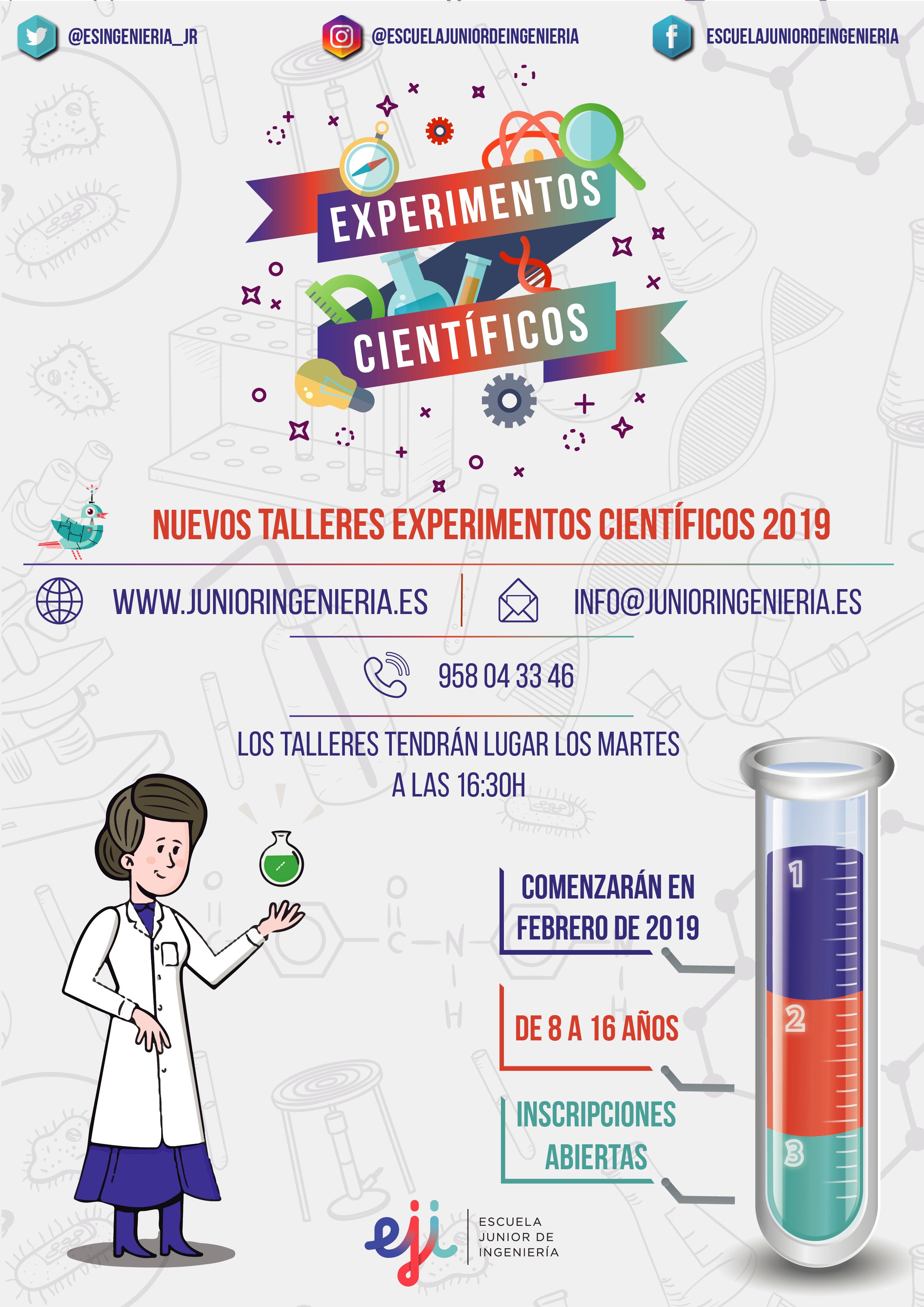 Talleres Experimentos Científicas en Granada