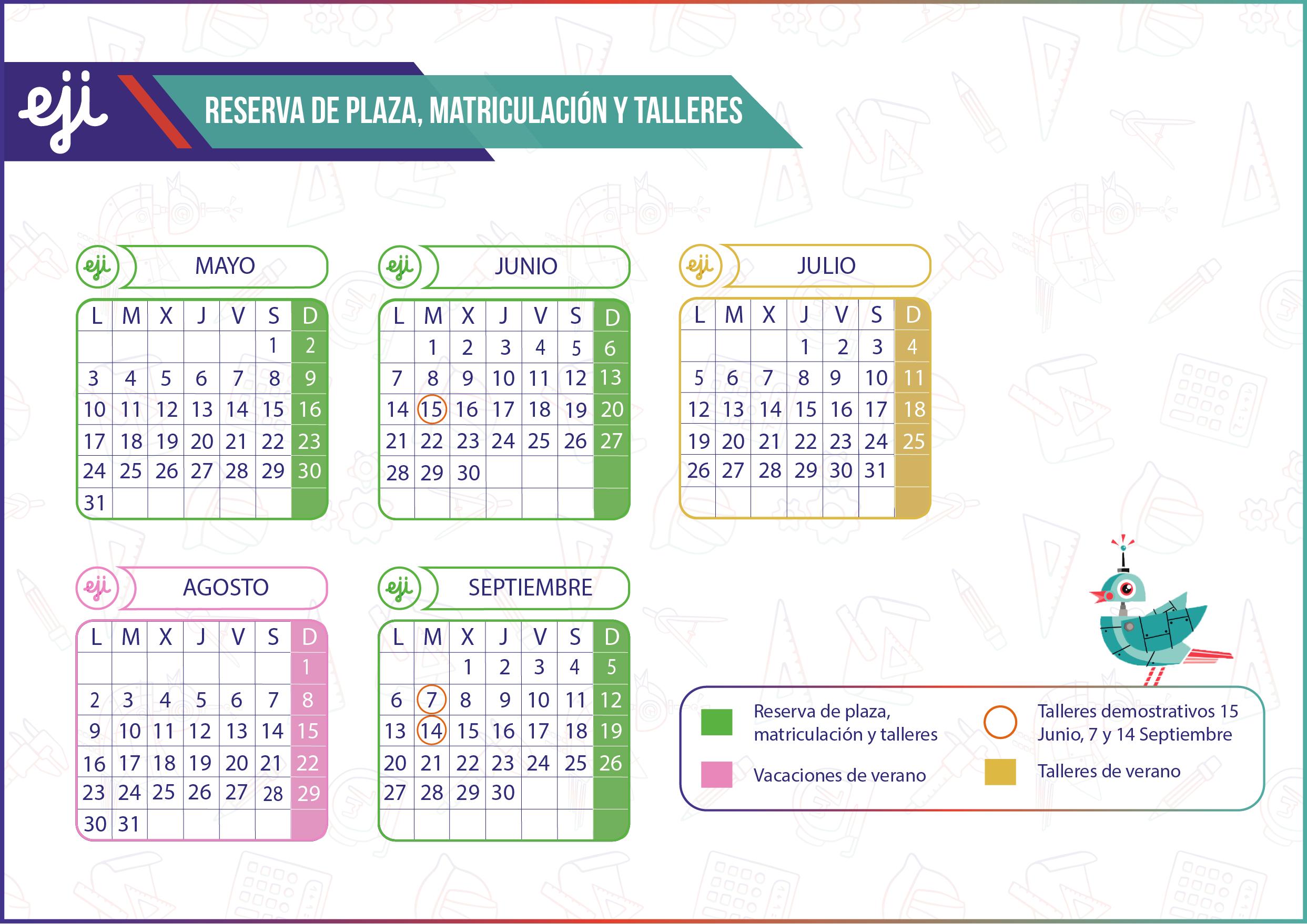 Calendario Escolar 21-22 Verano